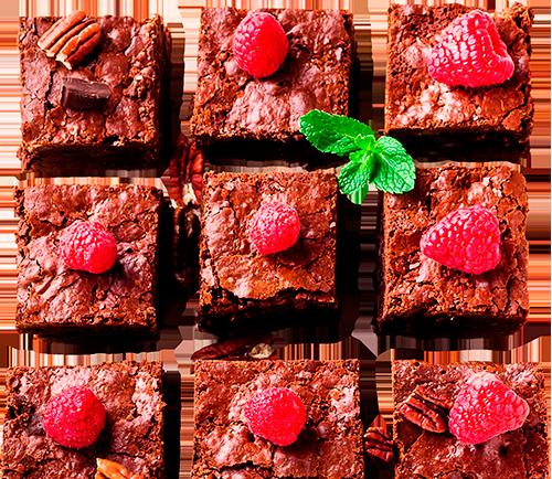 Brownie chocolat framboise LA PATELIERE
