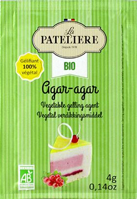 Agar-agar bio gélifiant végétal naturel LA PATELIERE
