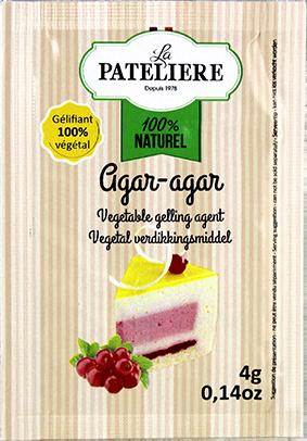 Agar-agar gélifiant végétal naturel LA PATELIERE