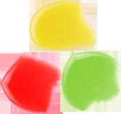 Colorants liquides vert jaune rouge LA PATELIERE