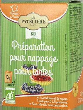 Préparation pour nappage pour tartes bio brillant LA PATELIERE