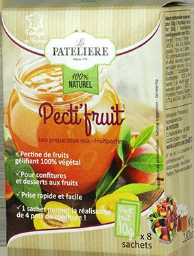 Pectifruit pectine gélifiant végétal naturel confiture LA PATELIERE