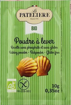 Poudre à lever sans phosphate sans gluten bio LA PATELIERE