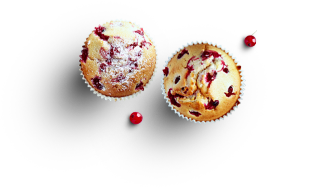 Cupcakes muffins fruits rouges LA PATELIERE