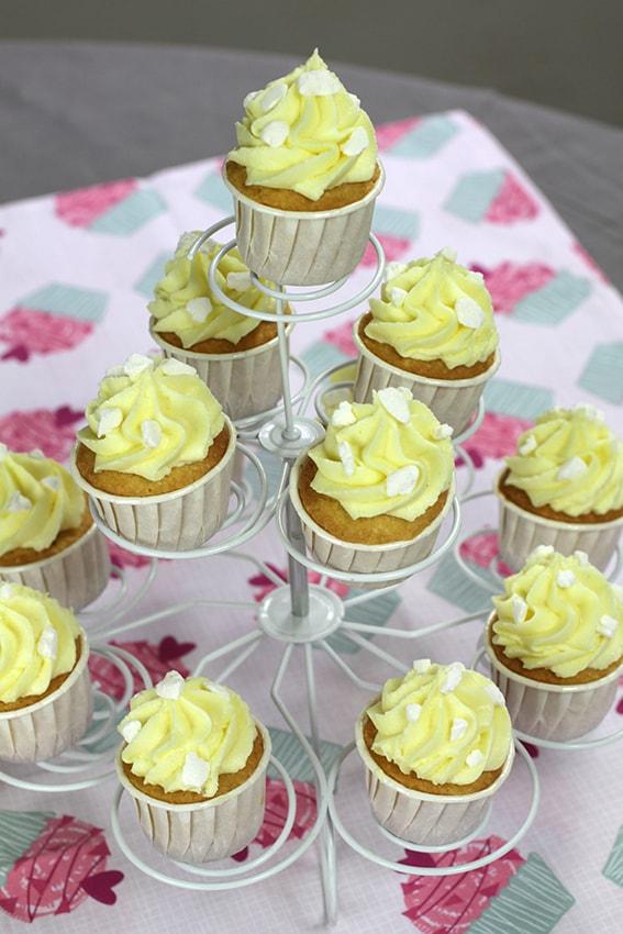 Cupcakes noix de coco citron recette LA PATELIERE