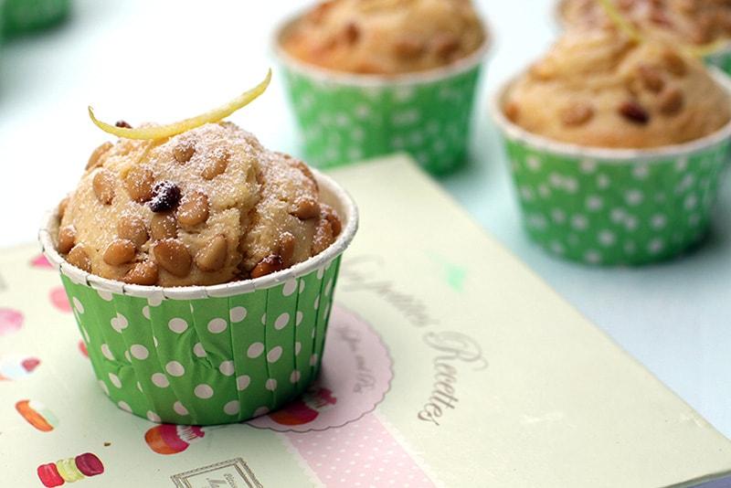 Muffins citron pignons de pin recette LA PATELIERE