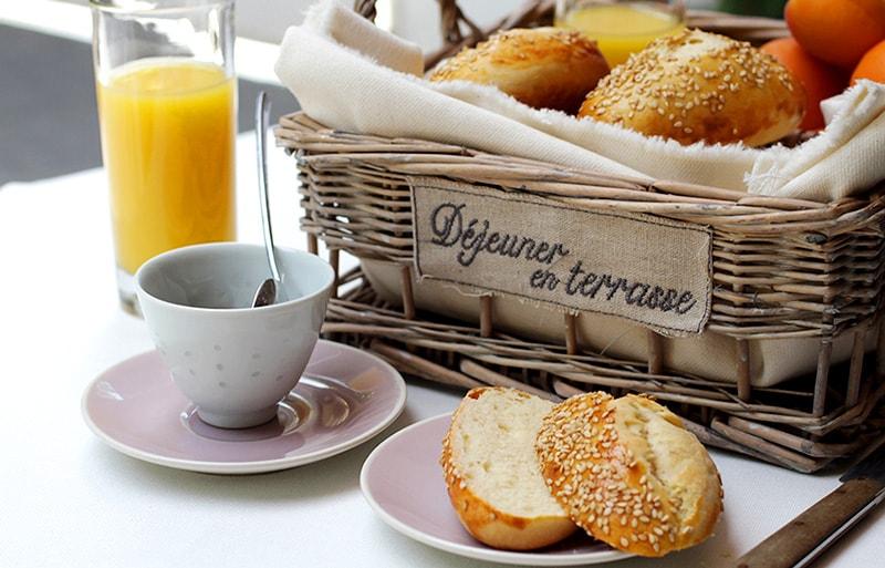 Petits pains au sésame fait-maison recette LA PATELIERE