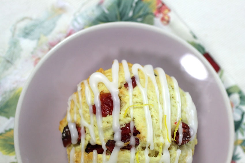 Scones aux cranberries recette LA PATELIERE