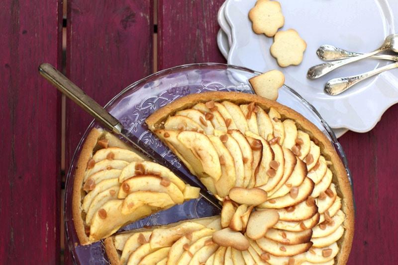 Tarte aux pommes éclats caramel recette LA PATELIERE