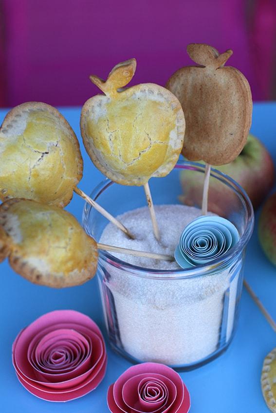 Sucettes pommes mirabelles biscuits recette LA PATELIERE
