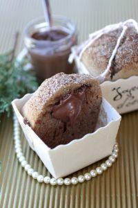 Muffins aux épices coeur de pâte à tartiner recette Noël LA PATELIERE