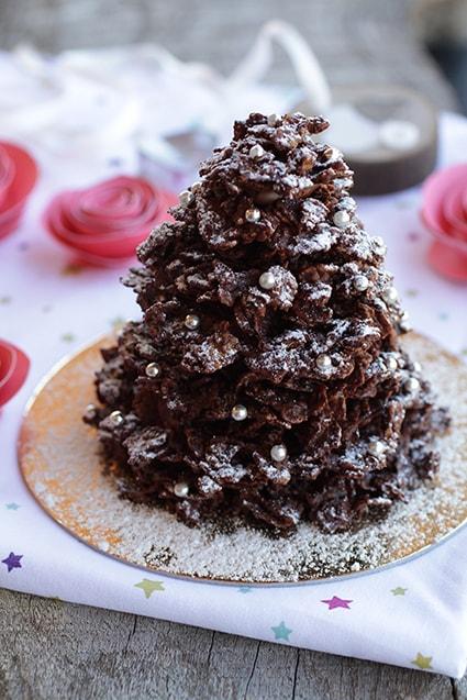 Sapin roses des sables recette Noël LA PATELIERE