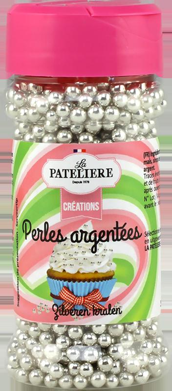 Perles argentées décoration cake design LA PATELIERE