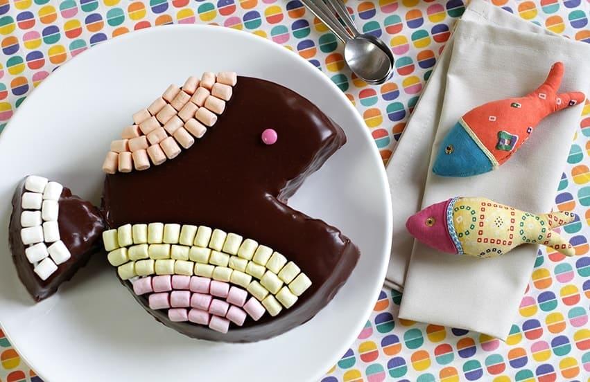 Gâteau poisson chocolat avril recette LA PATELIERE