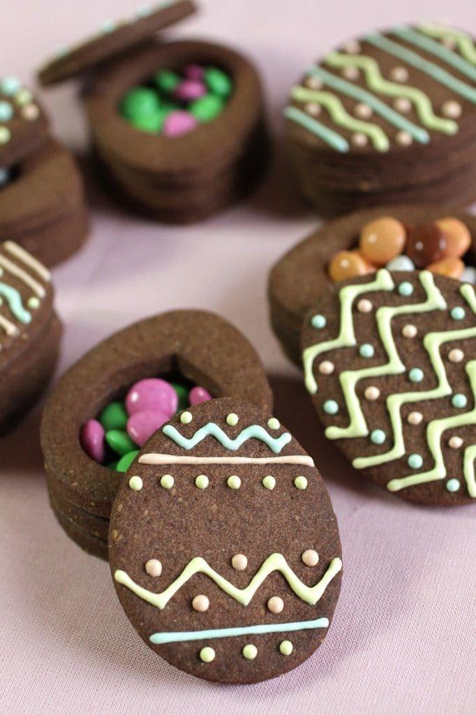 Boîtes sablées biscuit sablé recette Pâques LA PATELIERE