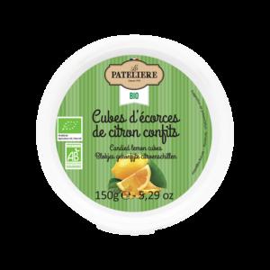 Cubes d'écorces de citron confits bio LA PATELIERE