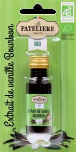 Extrait de vanille Bourbon bio LA PATELIERE