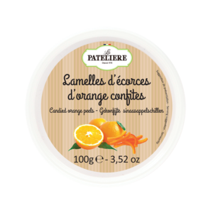 Lamelles d'écorces d'orange confites
