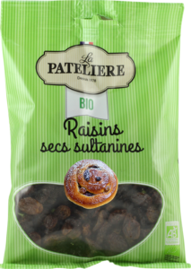 Raisins secs sultanines bio LA PATELIERE