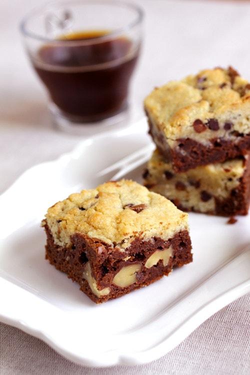 Brookie brownie cookie recette LA PATELIERE