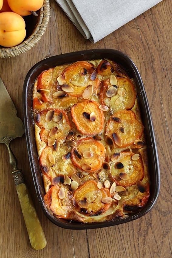Clafoutis abricots amandes recette LA PATELIERE