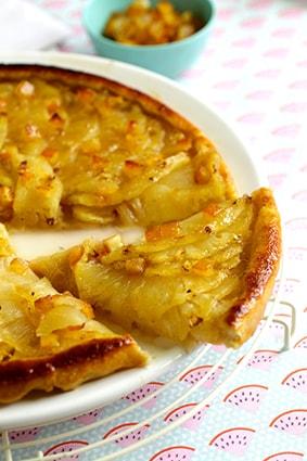 Tarte tatin ananas orange recette LA PATELIERE