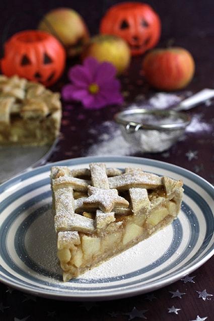 Apple pie tarte pomme américaine recette Halloween LA PATELIERE