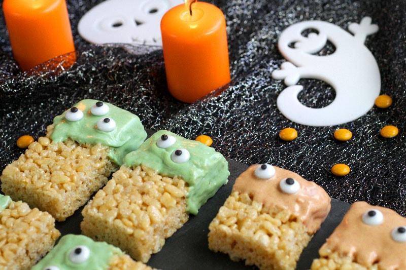 Barres de céréales galettes de riz soufflé recette Halloween LA PATELIERE