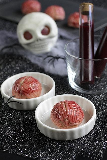 Bouchées cervelles recette Halloween LA PATELIERE