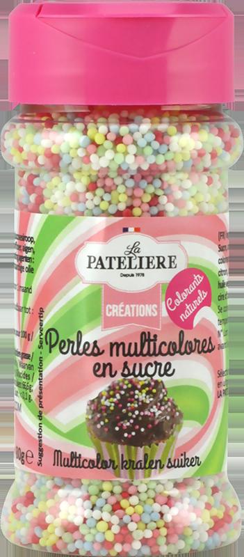 Perles multicolores en sucre LA PATELIERE