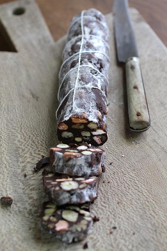 Saucisson au chocolat recette LA PATELIERE