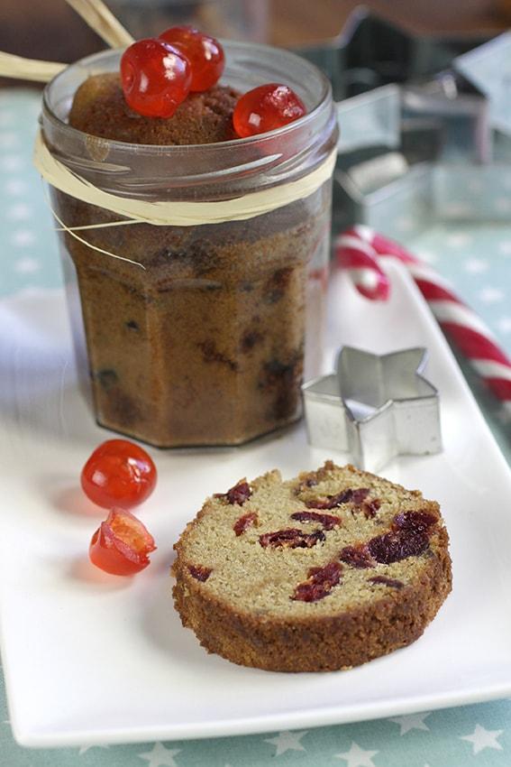 Cake aux fruits confits en bocal recette Noël LA PATELIERE