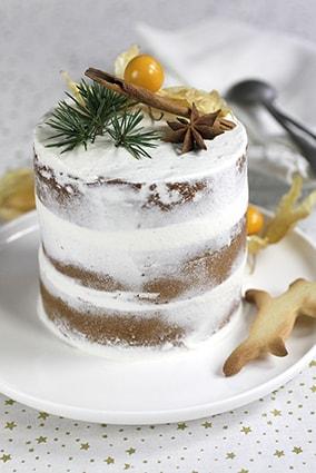 Naked cake gâteau à étages recette Noël LA PATELIERE