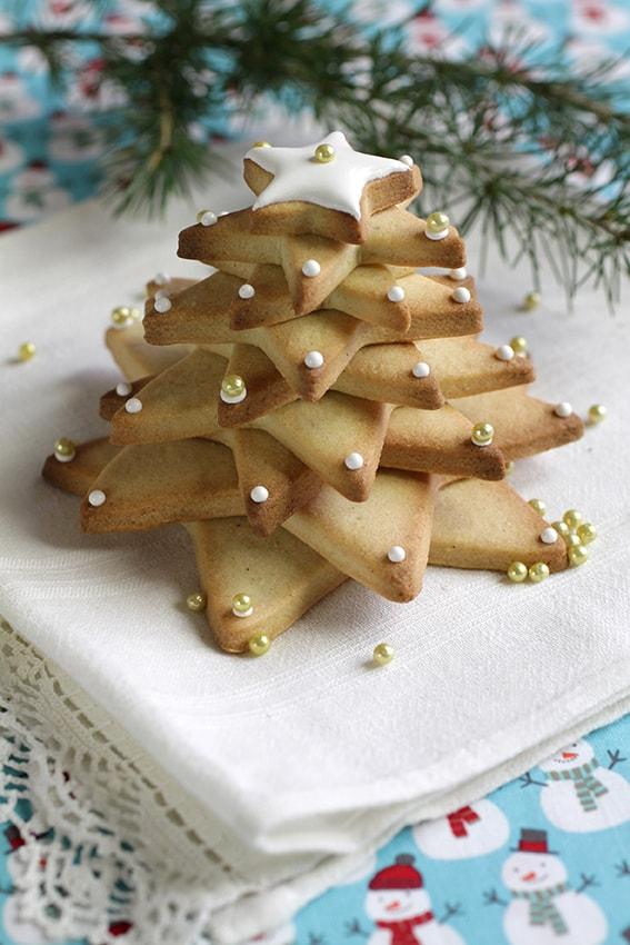 Sapin de Noël 3D biscuits étoiles recette Noël LA PATELIERE