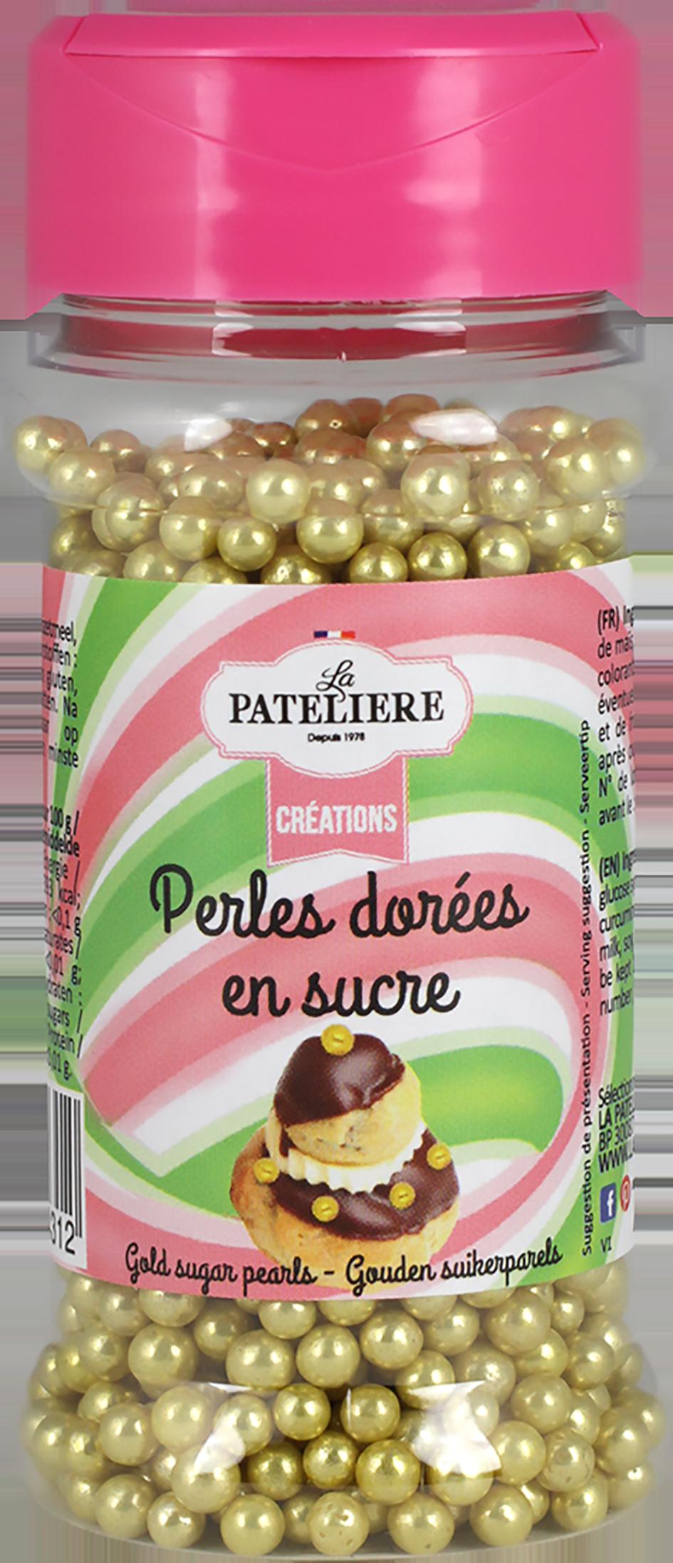 Perles dorées décoration cake design LA PATELIERE