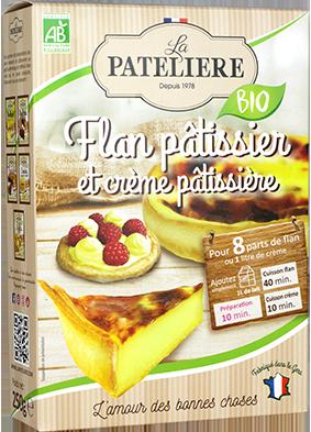 Préparation bio pour flan pâtissier ou crème pâtissière LA PATELIERE