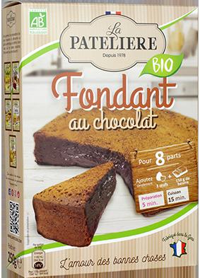 Préparation bio pour fondant au chocolat LA PATELIERE