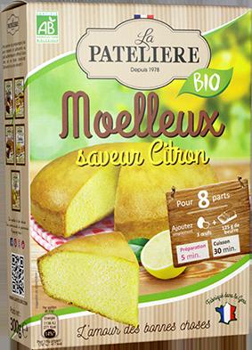 Préparation bio pour moelleux au citron LA PATELIERE