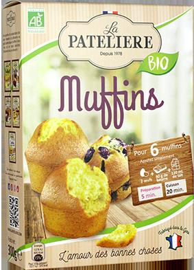 Préparation bio pour muffins LA PATELIERE