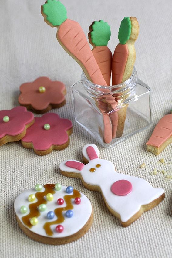 Sablés de Pâques décoration pâte à sucre recette LA PATELIERE