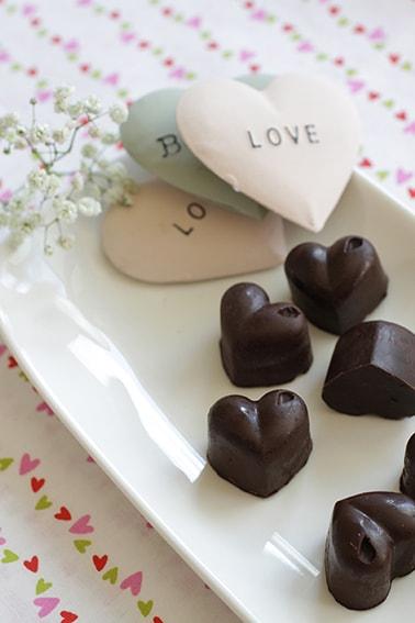 Cœurs chocolat praliné fête des mères recette LA PATELIERE