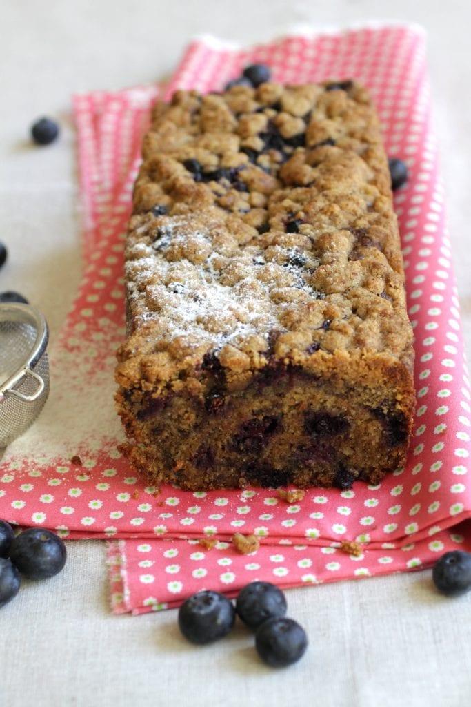 Cake crumble myrtille LA PATELIERE