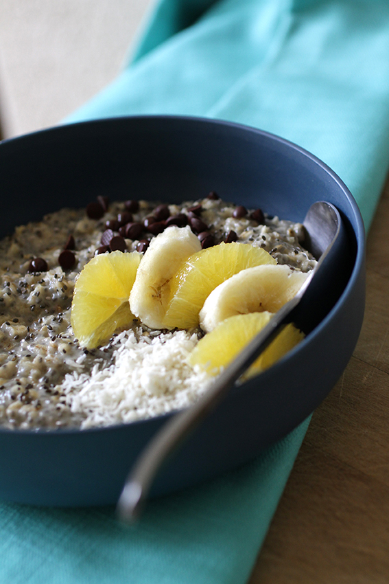 Grod porridge avoine chia coco fruits LA PATELIERE