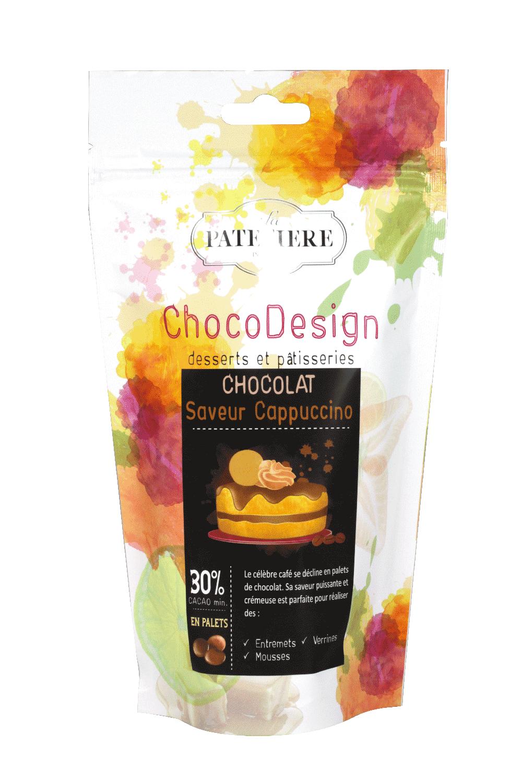 chocolat couverture à pâtisser cappuccino chocodesign LA PATELIERE