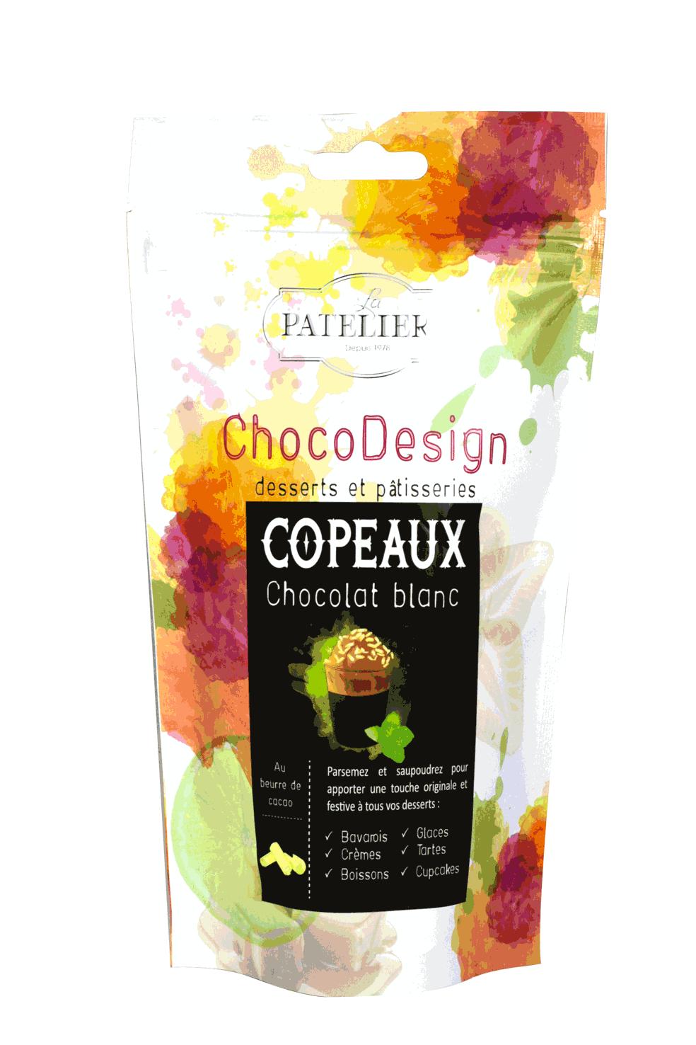 copeaux chocolat à pâtisser blanc chocodesign LA PATELIERE