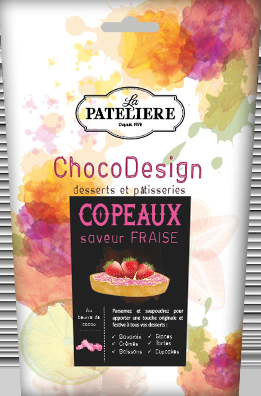 copeaux fraise chocolat à pâtisser chocodesign LA PATELIERE
