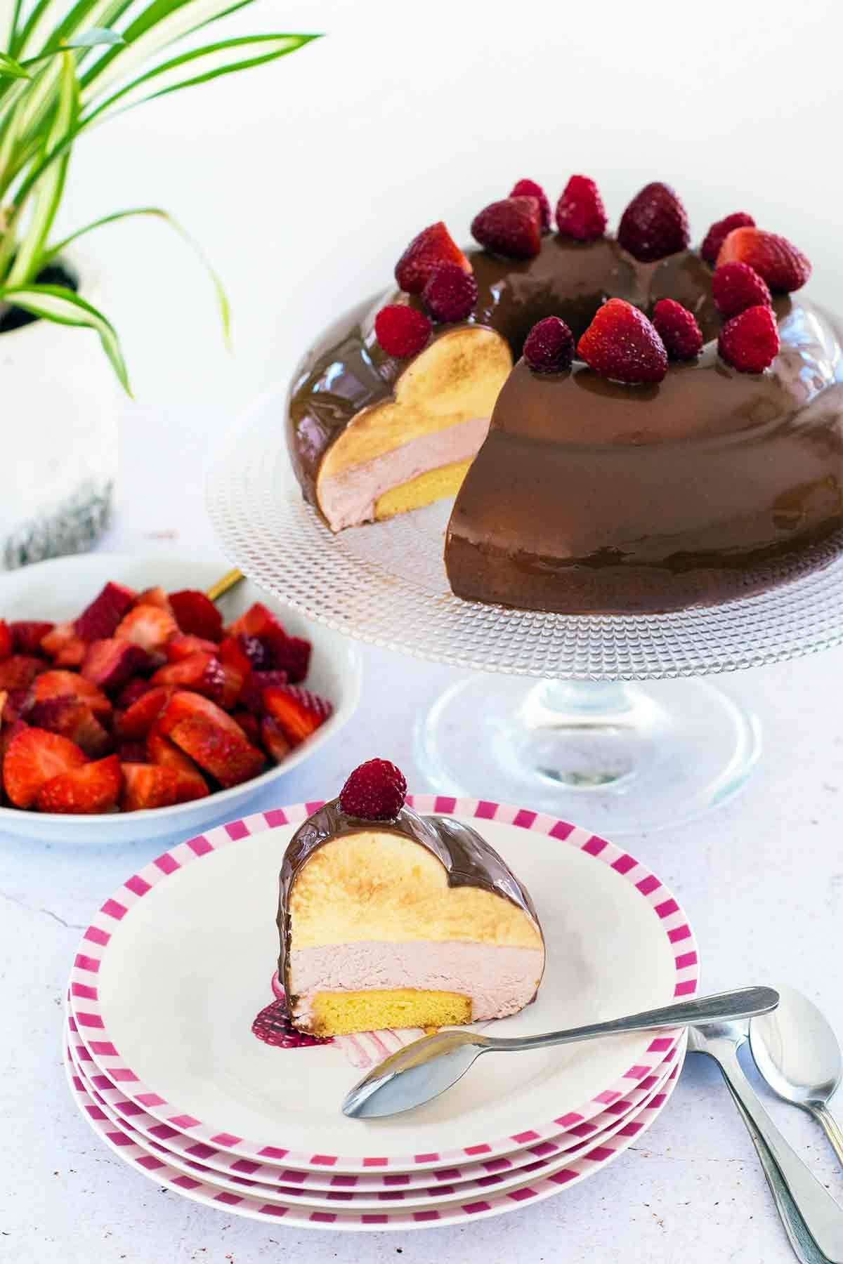 entremet chocolat à pâtisser ruby fruits rouges LA PATELIERE