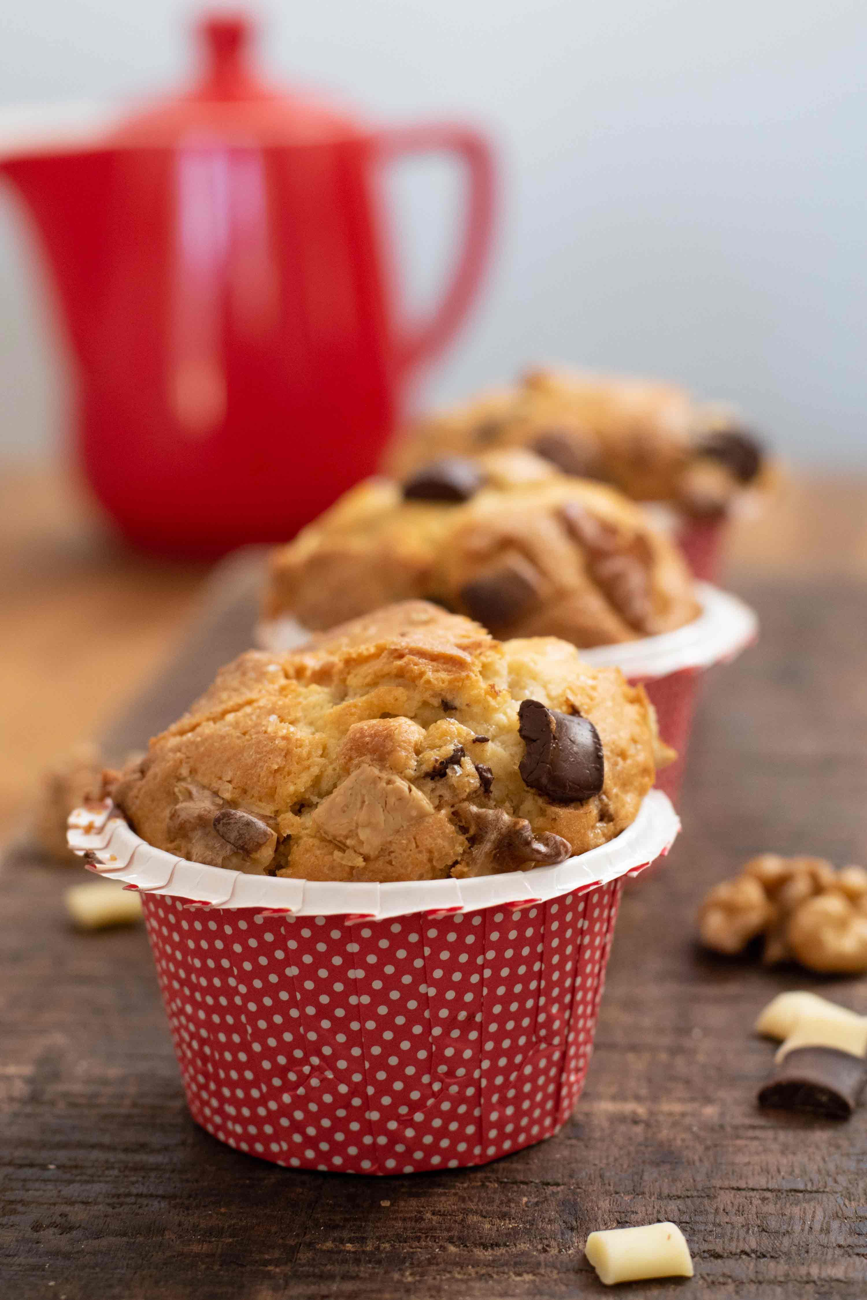 muffins pepites chocolat à pâtisser noix elise dit à table LA PATELIERE
