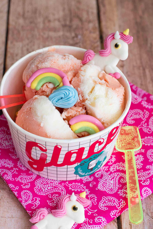 glace bonbon licorne arc en ciel sucre elise dit à table LA PATELIERE
