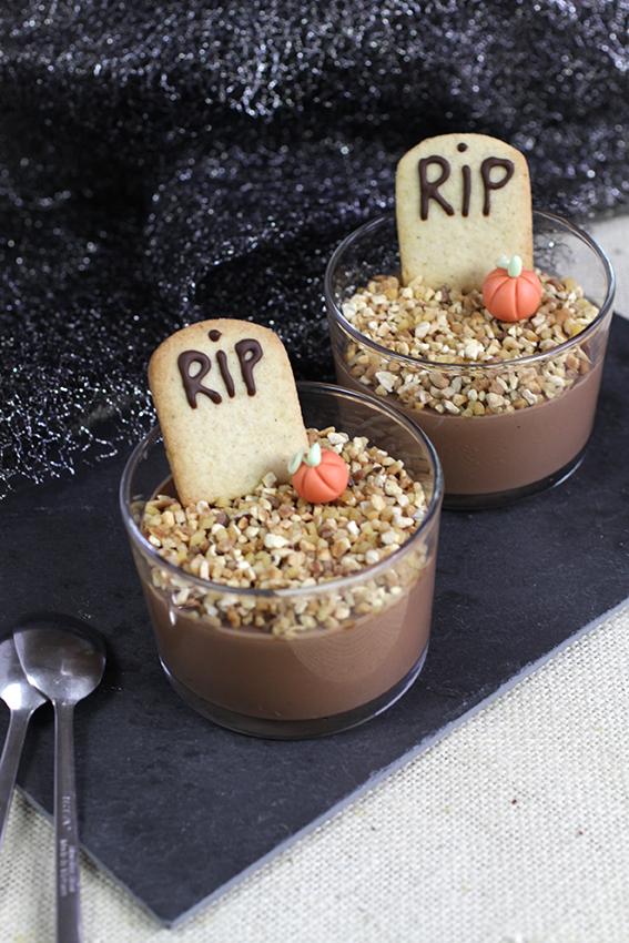 Verrine cimetière au chocolat